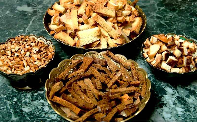 Разные сорта сухариков