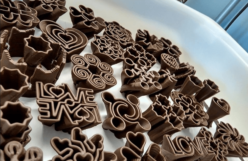 3d сладости из шоколада